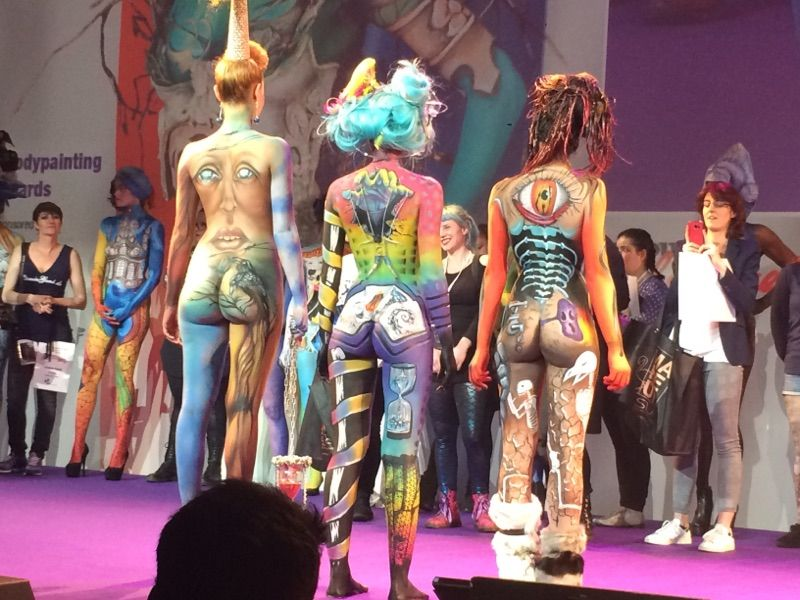 3 finalistes body painting