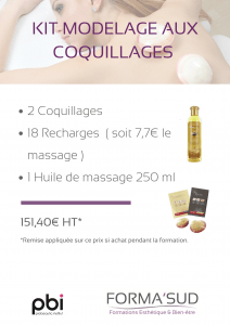 kit massage aux coquillages forma'sud